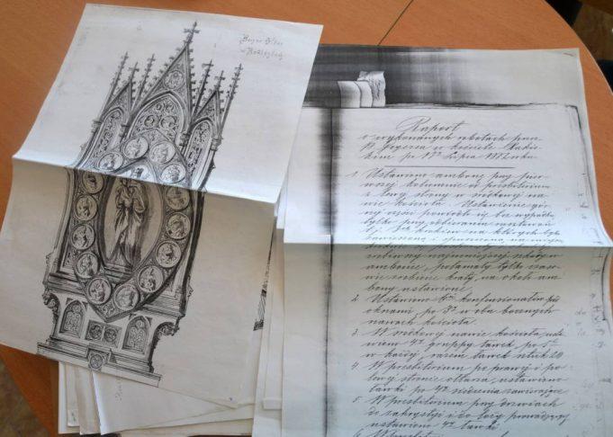 Rokiškio bažnyčios statybų dokumentai.
