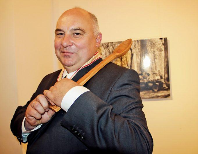 """Vilniaus rokiškėnų klubo """"Pragiedruliai"""" pirmininkas Algis Narutis."""