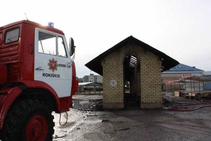 Sekmadienio gaisras turguje. A.Minkevičienės nuotr.