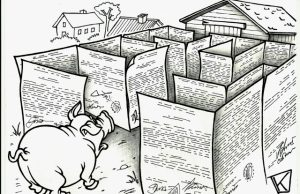 K. Pabijuto karikatūra.