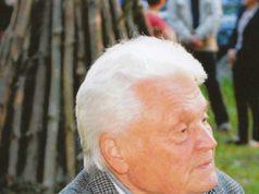 Jonas Bendorius ant Juodonių piliakalnio per 2014 m. Valstybės dienos minėjimą. V. Bagdono nuotr.