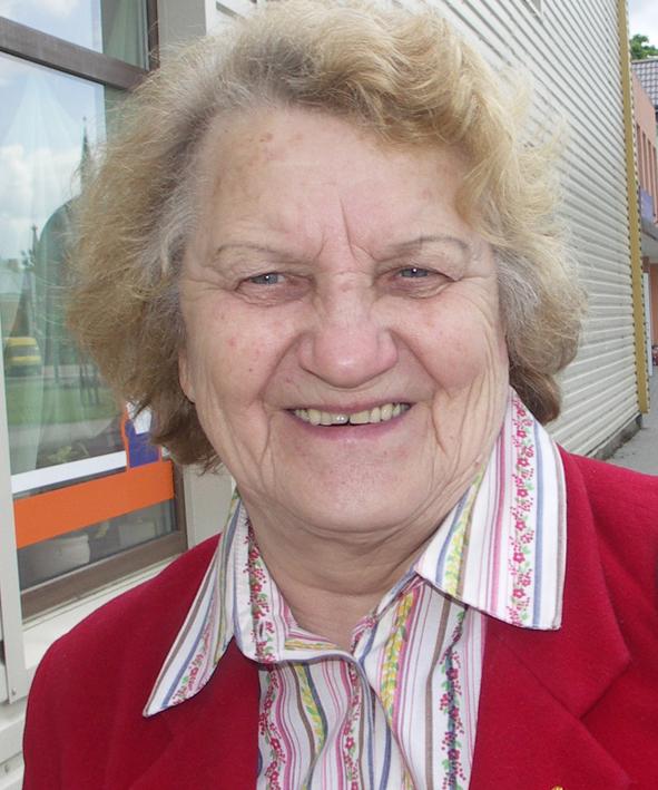 """Lietuvos pensininkų sąjungos """"Bočiai"""" Rokiškio skyriaus vadovė Aldona Krikštaponienė.  D.Zibolienės nuotr."""